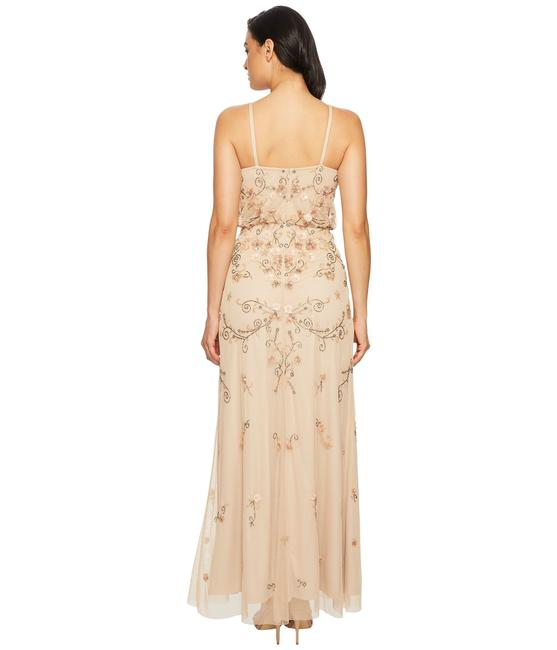 Adrianna Papell Boho Beaded Gown Evening Dress Image 4