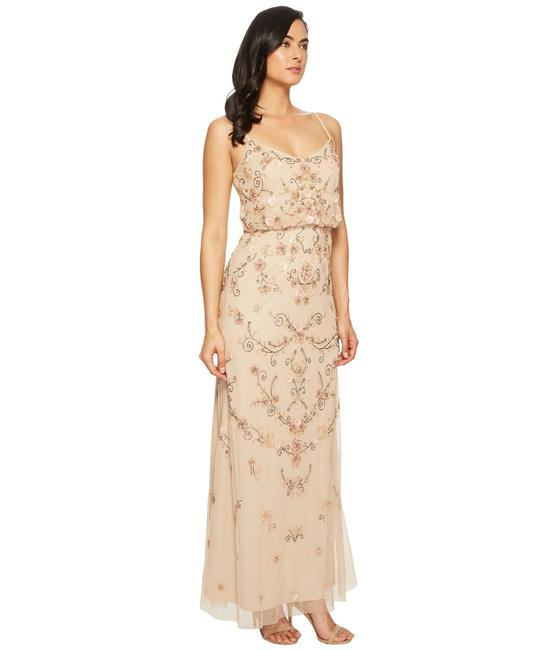 Adrianna Papell Boho Beaded Gown Evening Dress Image 5
