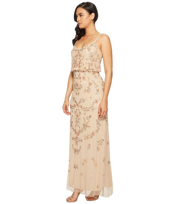 Adrianna Papell Boho Beaded Gown Evening Dress Image 6