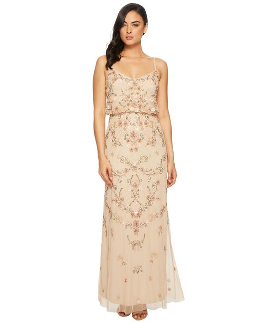 Adrianna Papell Boho Beaded Gown Evening Dress Image 7