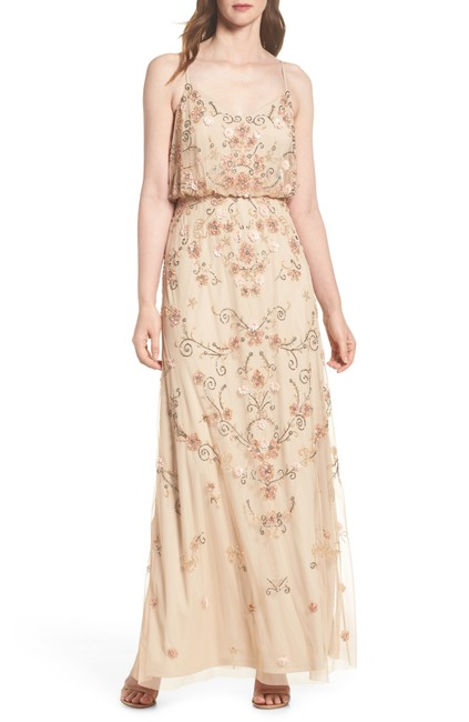Adrianna Papell Boho Beaded Gown Evening Dress Image 8