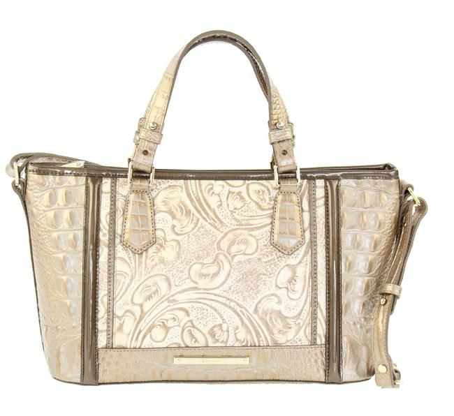Item - Bourdelle Mini Asher Gold Embossed Genuine Leather Tote