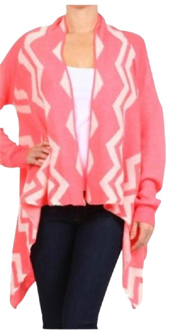 Item - Pink Or Black Chevron Cardigan Size 4 (S)