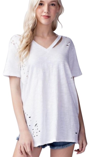 Preload https://img-static.tradesy.com/item/23305678/honey-punch-white-distressed-embroidered-t-shift-tee-shirt-size-4-s-0-1-650-650.jpg