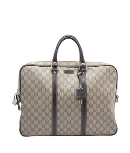 Gucci Gucci 201480 Brown GG Coated Canvas Buisness Bag (148363)