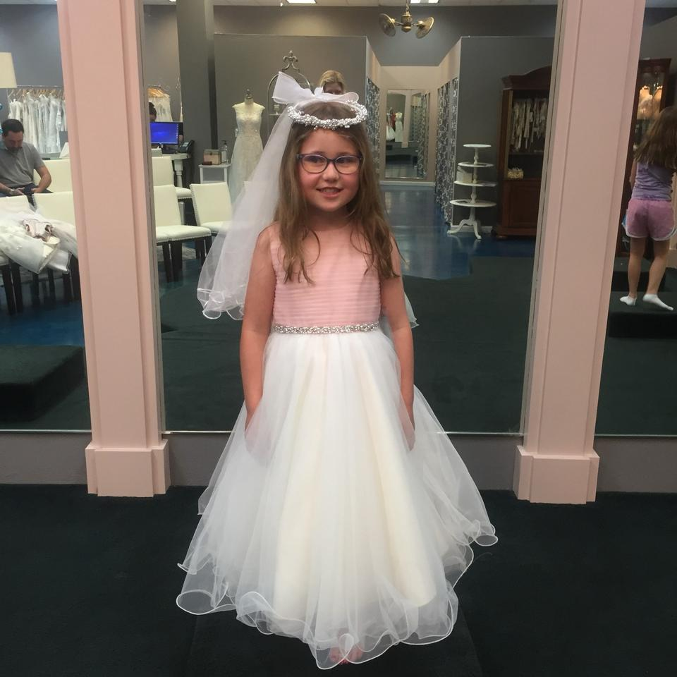 37302f016 Mon Cheri Pink/Ivory Tulle Joan Calabrese For Flower Girl 116391 Traditional  Bridesmaid/Mob ...