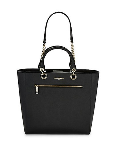 Preload https://img-static.tradesy.com/item/23305793/karl-lagerfeld-classic-black-faux-leather-tote-0-0-540-540.jpg