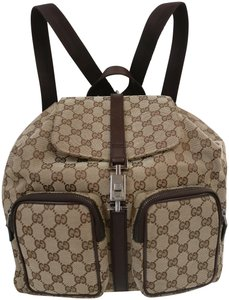 Gucci Gg Monogram Crossbody Tote Backpack
