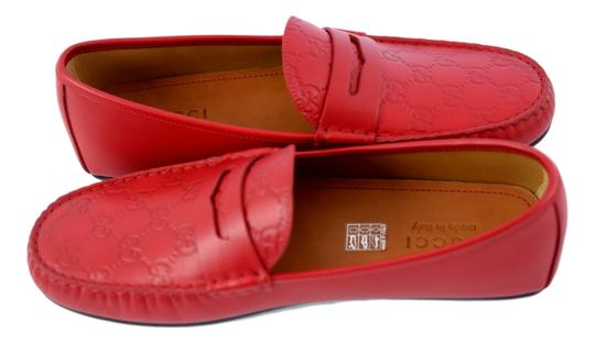 Gucci Red 431063 Men's Gg Guccissima Driver 12.5g/13.5-14.5us Shoes Image 1