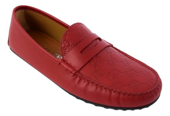 Gucci Red 431063 Men's Gg Guccissima Driver 12.5g/13.5-14.5us Shoes Image 10