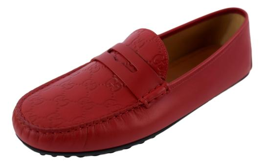 Gucci Red 431063 Men's Gg Guccissima Driver 12.5g/13.5-14.5us Shoes Image 3