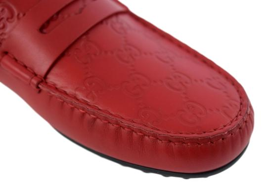 Gucci Red 431063 Men's Gg Guccissima Driver 12.5g/13.5-14.5us Shoes Image 5