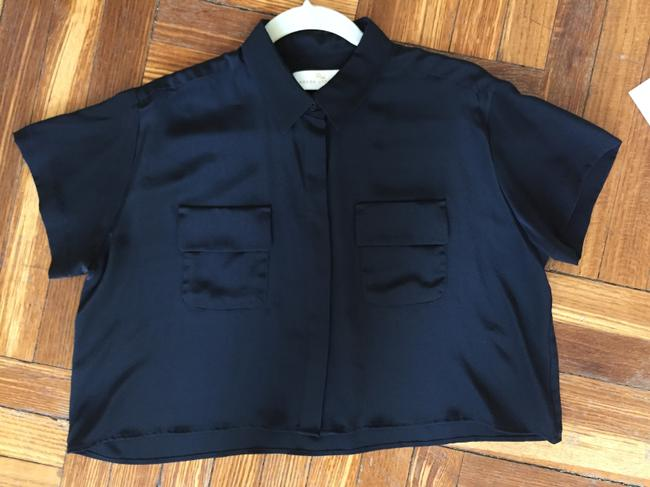 Amanda Uprichard Button Down Shirt Black