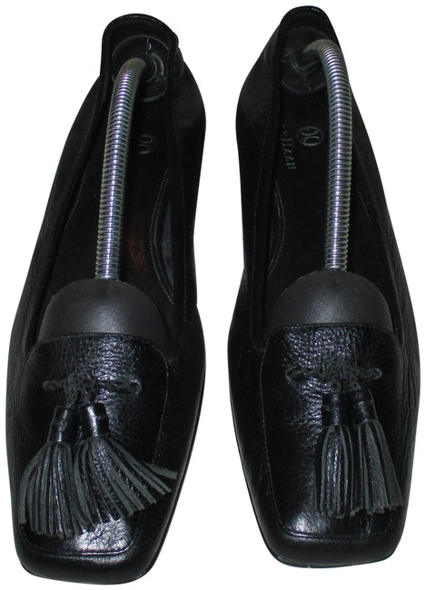 Item - Black Check It Out Sleek Leather with Tassels Aa Flats Size US 7 Narrow (Aa, N)