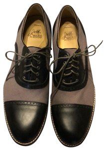 Johnston & Murphy black and grey canvas Flats