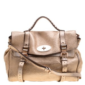 Mulberry Satchel in Gold