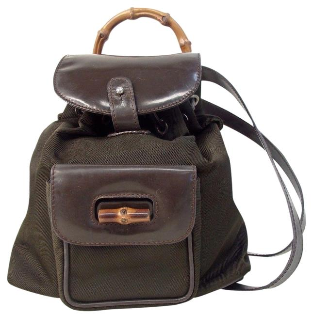 Item - Bamboo Mini Expresso Brown Nylon Backpack