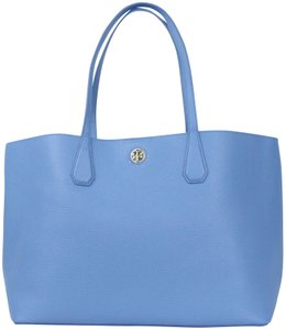 058c6c0c440e Tory Burch Perry   Montego Blue   Navy Leather Tote - Tradesy