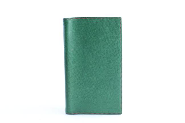 Item - Bicolor Passport Or Agenda Cover 26hr0501 Green X Red Leather Clutch