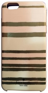 Kate Spade Kate Spade iPhone 6 Plus Hybrid Case Gold striped with light colors
