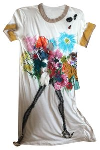 Lanvin short dress off white with bright colors on Tradesy