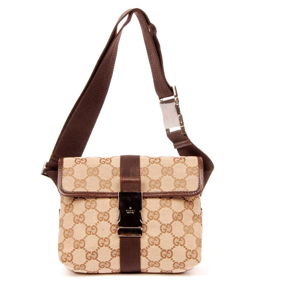 f87c34a9210b Gucci Very Nice Bum Fanny Pack Brown 5957 Canvas Weekend/Travel Bag ...
