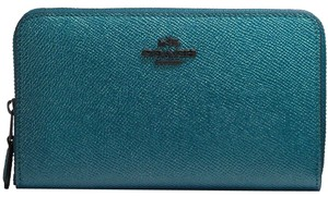 Coach Coach Medium Zip Around Wallet METALLIC 59968