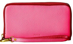 Fossil Wristlet in Neo Pink