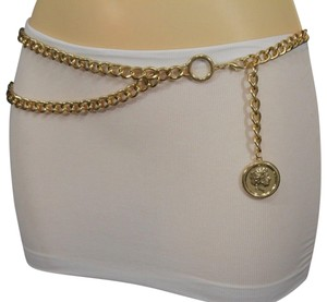 Alwaystyle4you Gold Metal Chain Link Greek Style Coin Charms Hip Waist Women Belt