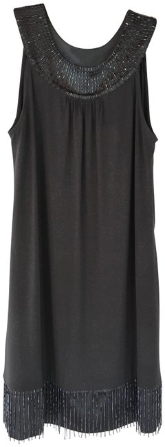 Item - Slate Grey Beaded Cocktail Short Night Out Dress Size 2 (XS)