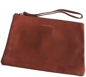 Coccinelle Leather Italian Vintage burnt orange Clutch