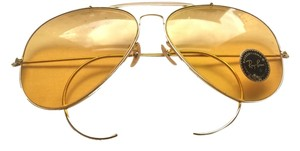 Ray-Ban Late 80's Ray-Ban Aviator, Gold frame with amber tinted lenses