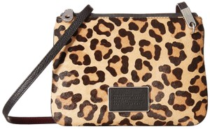 d270daadc762 Marc by Marc Jacobs Ligero Leopard Genuine Calf Hair Double Percy Shoulder Cross  Body Bag