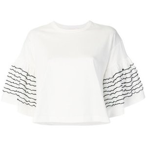 See by Chloé T Shirt White with blue stitch detail.