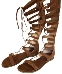 Chinese Laundry Suede Gladiator Summer Spring Camel/Tan Sandals