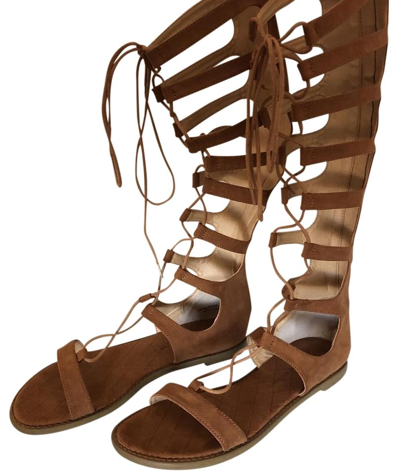 e63f644ca403f7 Chinese Laundry Suede Gladiator Summer Spring Camel Tan Sandals Image 0 ...
