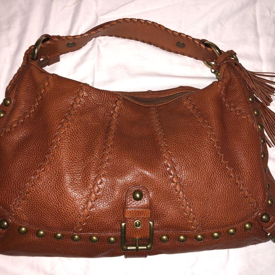 d14d4ab015 Isabella Fiore Sweet Dreams Alexia Studded Handbag Brown Leather Hobo Bag -  Tradesy