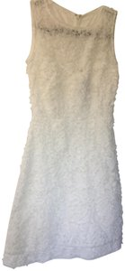 Taylor short dress white Textured Floral A Line on Tradesy