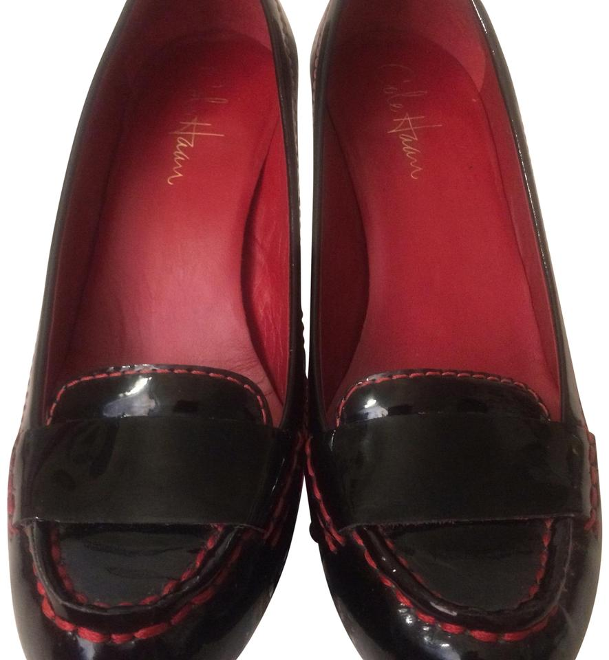Cole Stunning Haan Black & Red Stunning Cole Nikeair Patent Leather Pumps b130b7