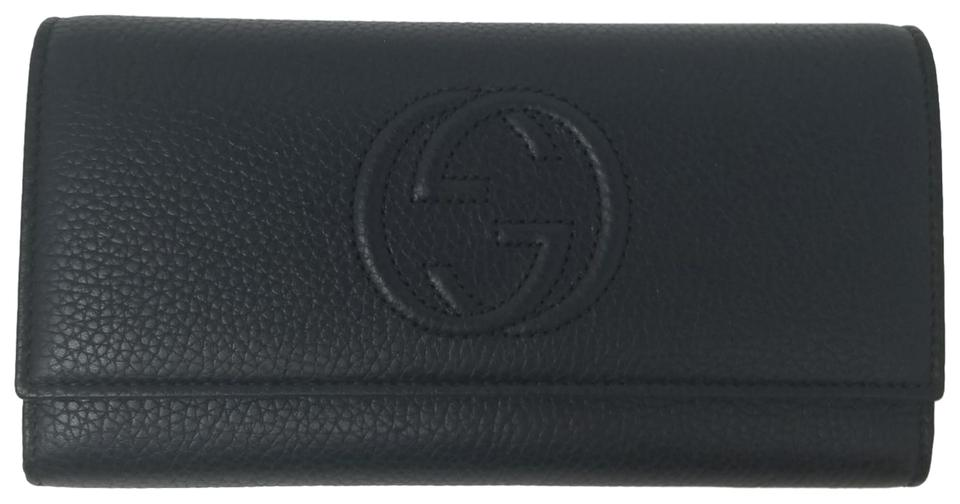 47f263dbc32 Gucci GUCCI 282414 Soho Black Leather Continental Wallet Image 0 ...