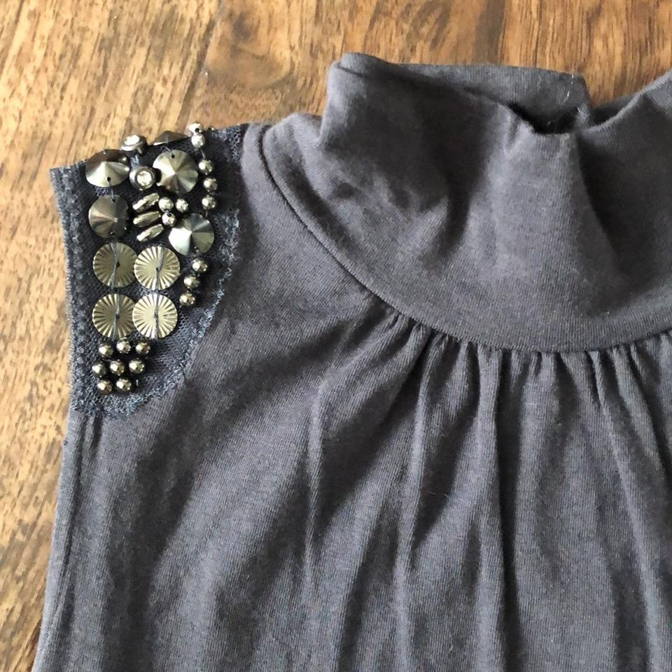a2acc1b8dd3af5 Express Brown with Beading Mock Turtleneck Tank Top Cami Size 00 (XXS) -  Tradesy