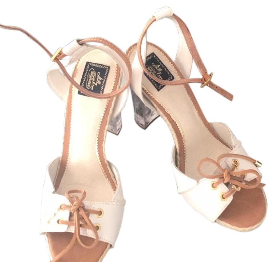 5fdf4a501 MILLY White and Tan For Sperry Sandals. Size  US 9 Regular (M ...