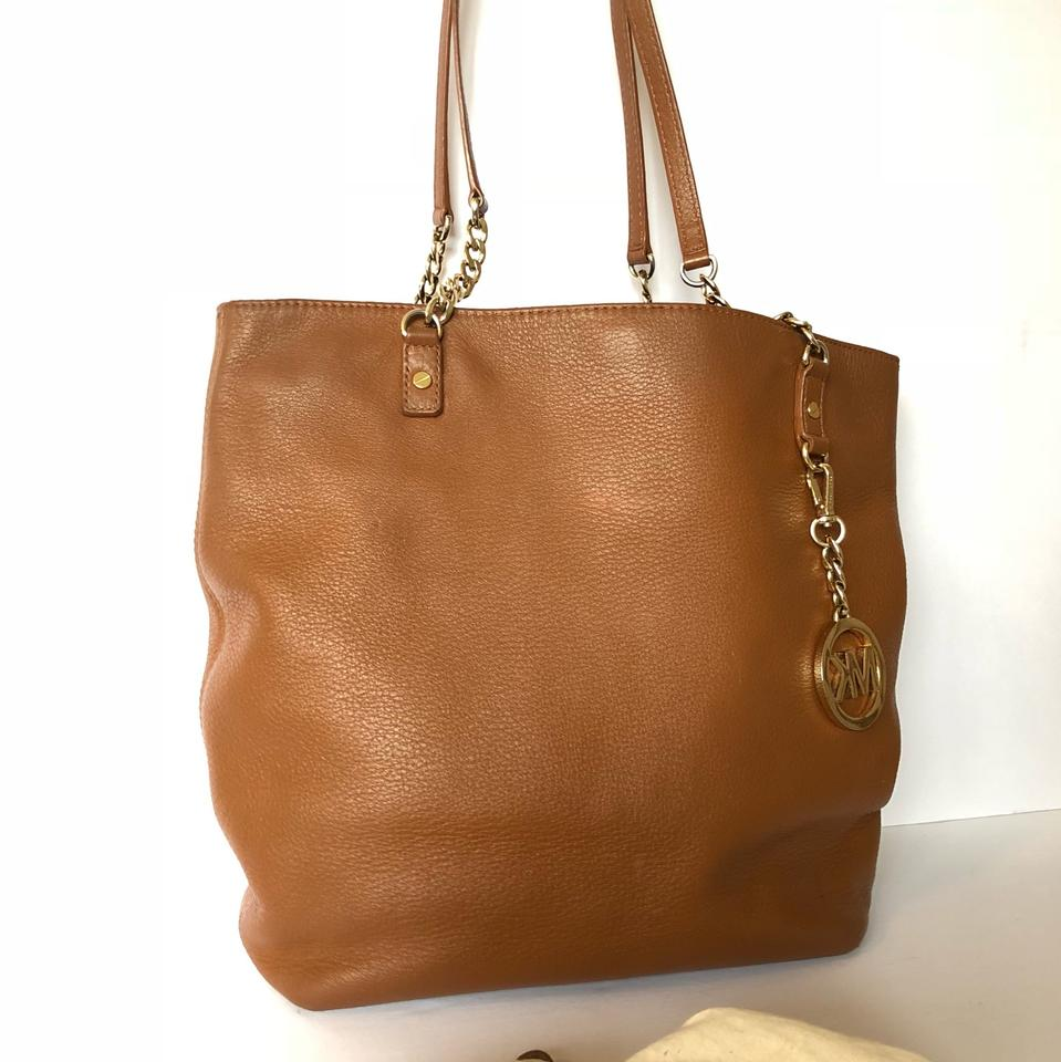 8074765565 Michael Kors Chain Strap Brown Leather Shoulder Bag - Tradesy