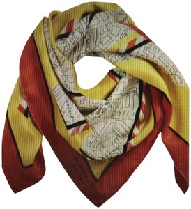 Burberry Yellow/red London Map Silk
