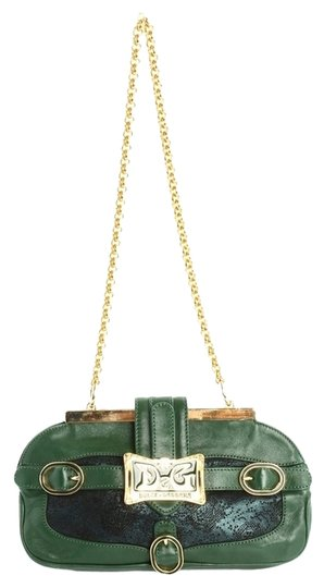 Preload https://item4.tradesy.com/images/dolce-and-gabbana-green-leather-clutch-2330938-0-0.jpg?width=440&height=440