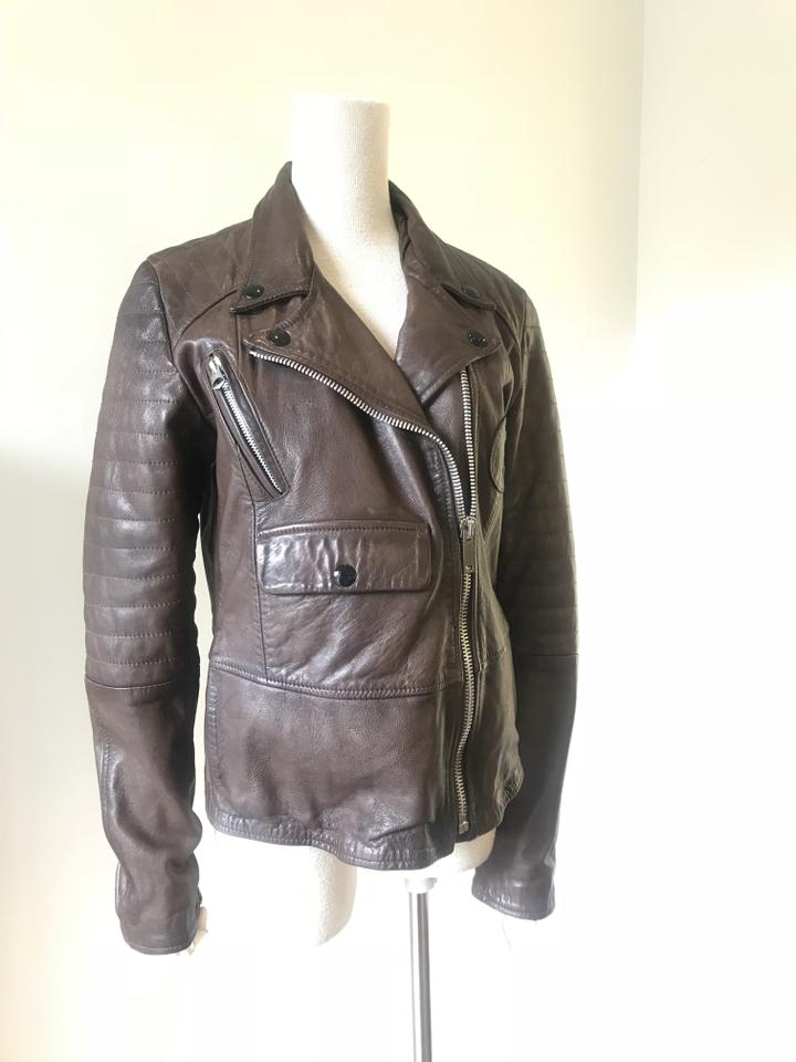 Goose Golden Leather Deluxe 123456789101112 Brand Brown Jacket RnF1wqnpA