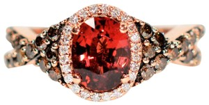 Le Vian GIA Certified LeVian 2.12tcw Red Spinel & Diamond 14k Rose Gold Ring