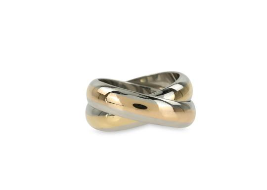 Preload https://img-static.tradesy.com/item/23309826/cartier-silver-double-band-ring-0-2-540-540.jpg
