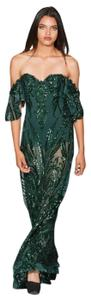 Lisa Nieves Prom Sequin Stretchy Evening Dress