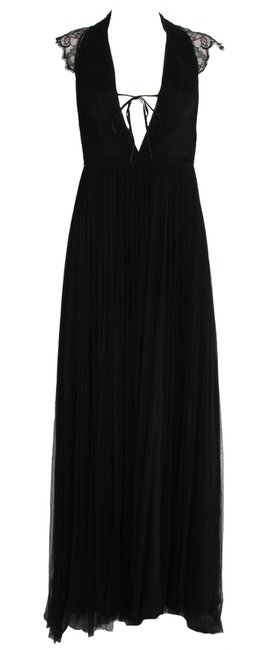Item - Black Lace Tulle Gown Long Formal Dress Size 4 (S)
